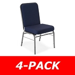 4-Pack Ofm 300-SV Comfort Class Foam Padded Stacking Stack Chairs