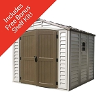 30114 DuraMax 8 x 8 Vinyl Shed with Foundation Kit