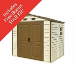 30115 8x6 StoreAll Vinyl Shed with Foundation Kit