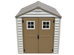 DuraMax 7x7 StoreMax All Weather Durable Vinyl Shed With Foundation