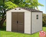 Duramax Storage Sheds 30211 10.5x8' Woodside Vinyl Shed + Foundation