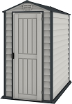 Duramax 30625 Evermore Adobe 4x6 Vinyl Storage Shed with Floor