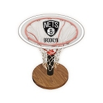 NBA Basketball Acrylic Sports Table with Brooklyn Nets Logo