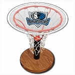 NBA Basketball Acrylic Sports Table with Dallas Mavericks Logo
