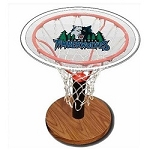 NBA Basketball Acrylic Sports Table with Minnesota Timberwolves Logo