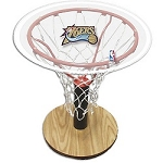 NBA Basketball Acrylic Sports Table with Philadelphia 76ers Logo