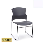 OFM Stacking Chair 310-P 4 Pack Plastic Seat and Back