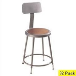 32 Adjustable Height Backrest Lab Stool 6224hb National Public Seating