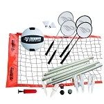 Triumph Sports Beginner Volleyball/Badminton Outdoor Game Combo