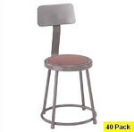 40 Heavy-Duty 18 Backrest Lab Stool NPS National Public Seating 6218b