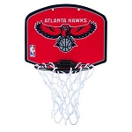 Spalding Atlanta Hawks Mini Over-The-Door NBA Team Logo Basketball Backboard