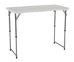 Lifetime 4 ft Fold in Half Adjustable White Tables 24-Pack