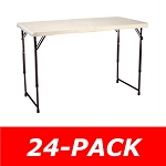 Lifetime Adjustable Tables - 4429 Fold-in-Half Almond Tables - 24 Pack