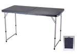 SO 4431 Lifetime Adjustable Table 4' Hunter Green Folding Fold-In-Half