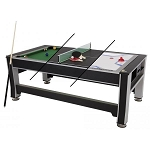 Triumph Sports 45-6066 3-in-1 Swivel Game Table Pool, Tennis, Hockey