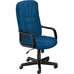 OFM 450-2332 Blue Executive Office Chair High-Back