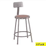 4 National Public Seating NPS 6224b 24 Heavy-Duty Lab Stools Backrest