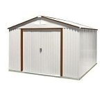 10x12 Del Mar Metal Shed Kit with Brown Trim
