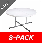 Lifetime Round Tables 5402 60-in White Granite Fold-in-Half Table Top