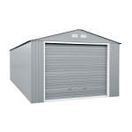 55152 Duramax Imperial Storage Buildings 12x26 Metal Garage Gray with Off White