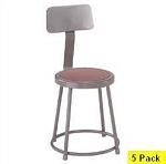 5 National Public Seating NPS 6218b Heavy-Duty 18 Lab Stools Backrest