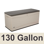 60012 Lifetime Outdoor Storage Deck Box Large 130 Gal. Capacity