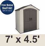 Lifetime 60057 Plastic Storage Shed Outdoor Building 7 ft x 4.5 ft