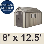 Lifetime Sheds - 60086 8 x 12.5 Foot Plastic Storage Shed