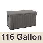 60089 Lifetime Outdoor Deck Box and Bench 116 Gal. Capacity