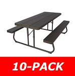 Lifetime Picnic Tables 860105 Faux Wood 6-Foot Top Benches 10 Pack