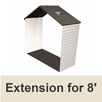 Lifetime Shed Accessories 60142 2.5-ft Extension Kit for 8-ft Sheds