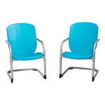 Lifetime Retro Chairs 60161 Set of 2 Blue Chairs