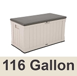 60186 Lifetime Outdoor Deck Box and Bench 116 Gal. Capacity