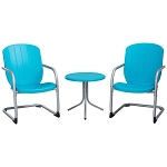 Lifetime Retro Table and Chair Set 60193 Blue Table and 2 Chairs