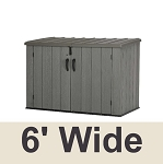 60212 Lifetime Outdoor 6' Horizontal Storage Shed Bin