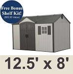Lifetime Storage Shed 60223 12.5 x 8 Ft. Garden Building