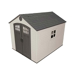 Lifetime 60241 Plastic Storage Shed 8x10 With 5 Shelves Included