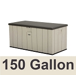 60254 Lifetime Heavy-Duty Outdoor Deck Storage Box 150 Gallon