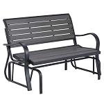 Lifetime Simulated Wood Glider Bench 60276 48-Inch Harbor Gray