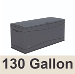 60298 Lifetime Heavy-Duty Outdoor Deck Storage Box 130 Gallon