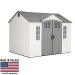 Lifetime Outdoor Storage Shed 60333 10 x 8 Desert Sand Side Entry