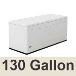 60348 Lifetime Marine Outdoor Dock Storage 130 Gal  White Deck Box