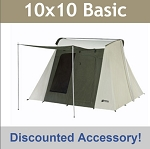 Kodiak Canvas Tent 6051 Six-Person 10 x 10 Ft. Tent