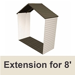 Lifetime Shed Extension Kit 6422 30-inch Extension Kit for 8-Ft Sheds