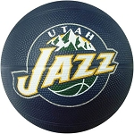 Spalding 65-556E Utah Jazz Mini NBA Team Rubber Basketball