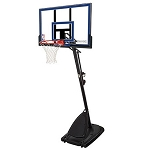 Spalding 50-Inch Acrylic Portable Basketball Hoop (Model 66355)