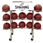 Spalding Ball Accessories 68-450 Basketball Cart Holds 15 Basketballs