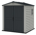 Duramax 30425 StoreMate Plus 6x6 Vinyl Plastic Resin Shed With Floor
