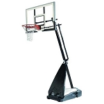 Spalding 71454A Ultimate 54-inch Glass Backboard Portable Basketball Goal
