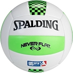 Spalding Never Flat Volleyball 72-101 King of the Beach Green/Black